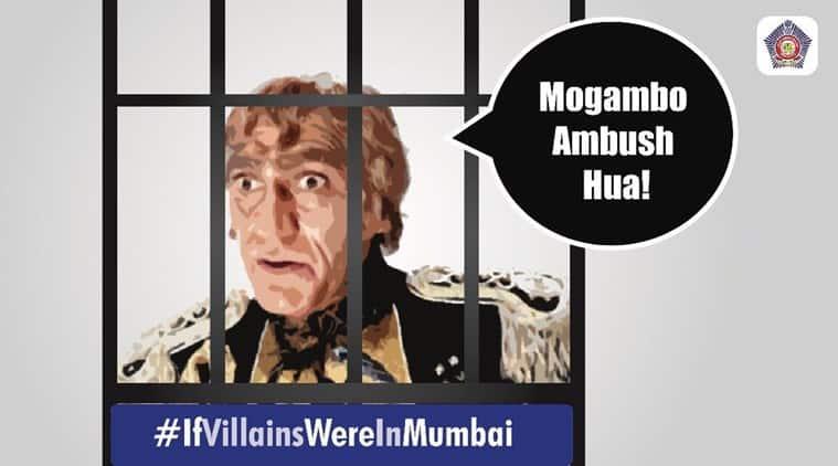 mumbai police, mumbai police twitter, mumbai police tweets, mumbai police latest tweets, mumbai police mogambo ambush tweet, mumbai police jokers tweet, mumbai police jokers twitter, indian express, indian express news