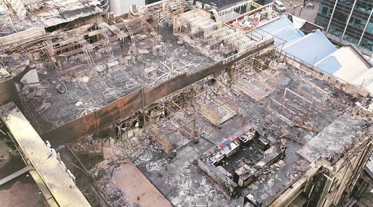 kamala mills fire, trade house building, write petition, building owner sued, 1above, mumbai news, indian express