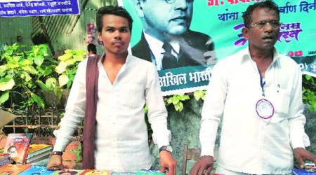 Father & son return to Chaityabhoomi every year to spread Ambedkar's thoughts, books