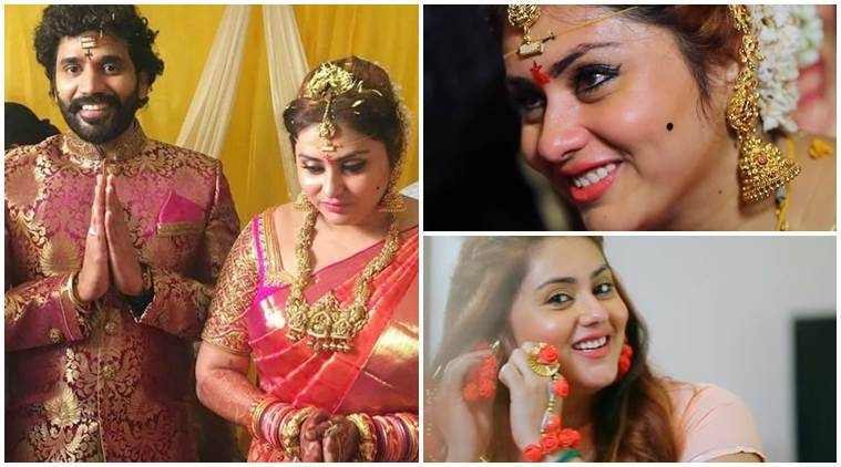 Namithas latest videos give us wedding goals the indian express namitha wedding video thecheapjerseys Choice Image