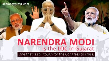 Narendra Modi is the LoC in Gujarat, one that is still tough for the Congress to cross