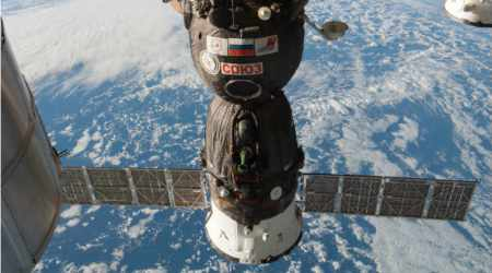 Soyuz spacecraft with 3 astronauts onboard heads for International Space Station