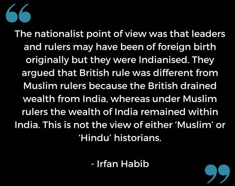 Irfan Habib on nationalists view