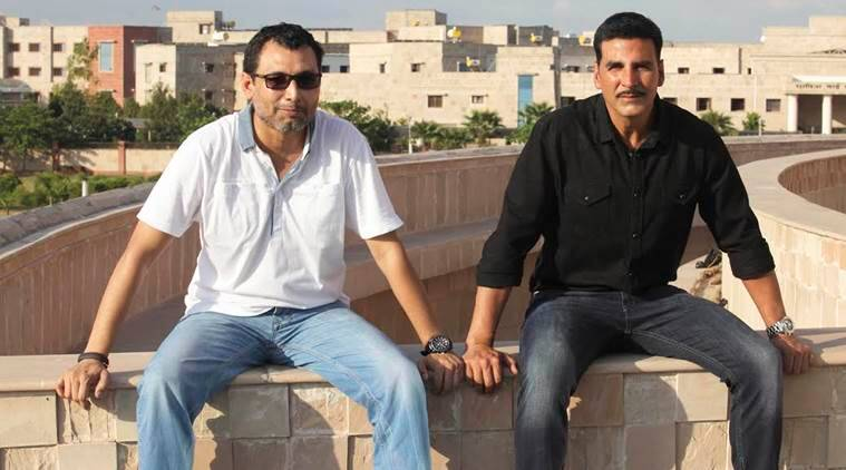 neeraj pandey and akshay kumar on the sets of Baby