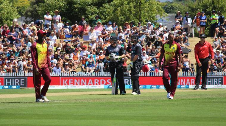 New Zealand against West Indies in 1st T20