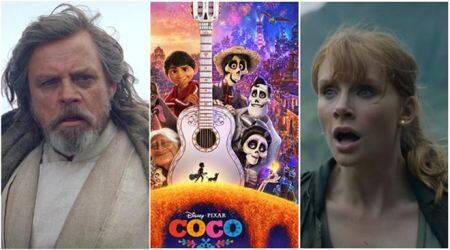 top hollywood news today includes mark hamill star wars tjhe last jedi coco natalie portman and jurassic world the fallen kingdom