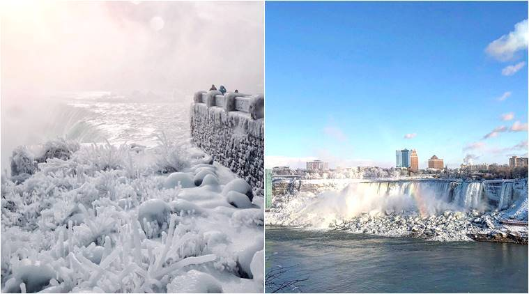 Niagara Falls freezes in parts