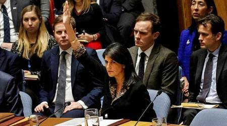 US vetoes UN resolution against Donald Trump's Jerusalemdecision
