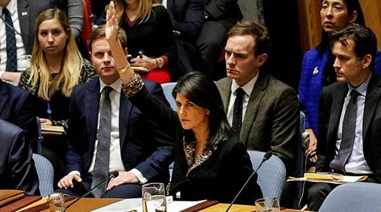 US vetoes UN resolution to withdraw Donald Trump's Jerusalem decision