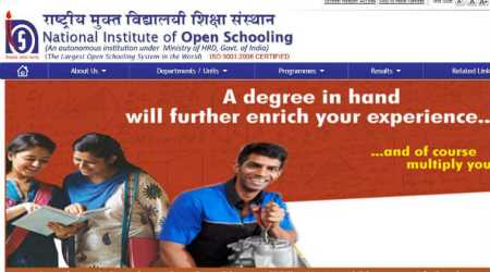 NIOS class 12 October exam 2017 results declared, check online at nios.ac.in