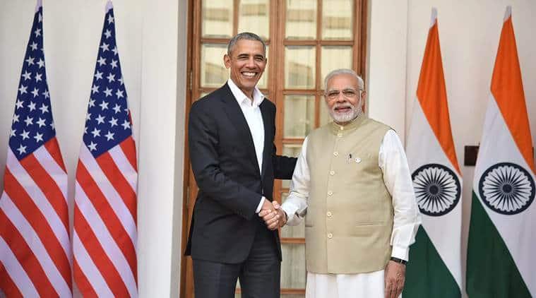 Barack Obama with Narendra Modi