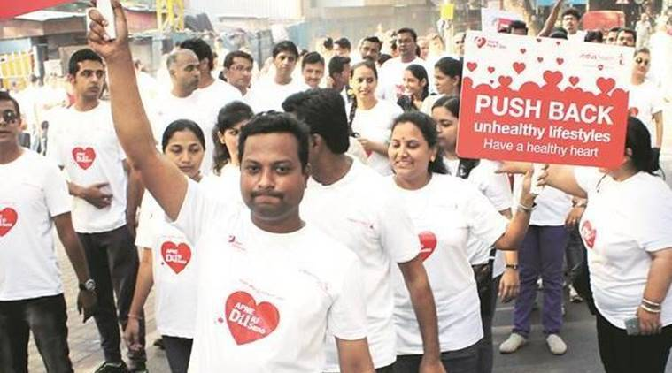 walkathon, elphinstone road station, st andrews college, aurathon, mumbai college, indian express, express news