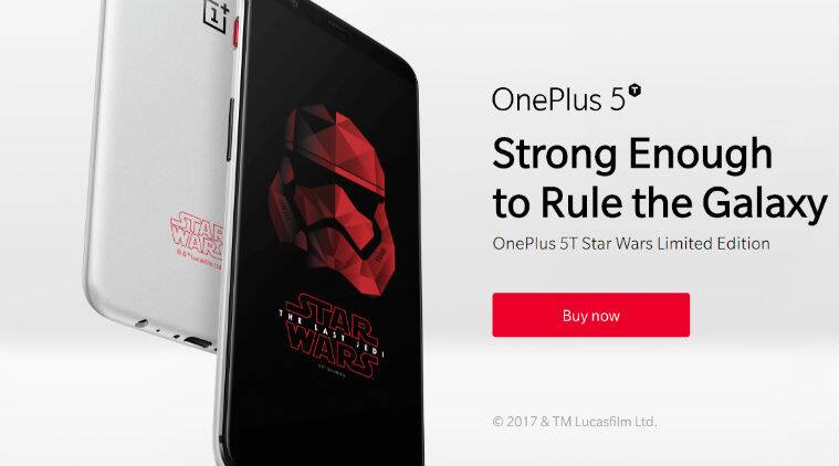 OnePlus 5T Star Wars Limited Edition lands in India for Rs. 38999