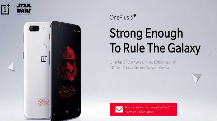 Star Wars edition OnePlus 5T coming to a galaxy near you