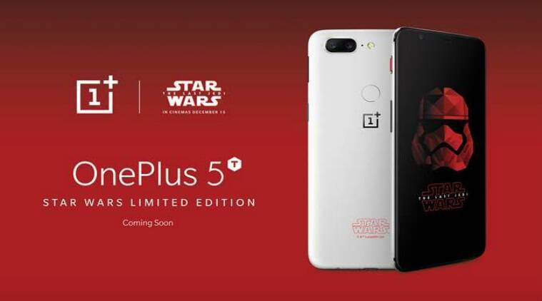 OnePlus 5T, OnePlus, OnePlus 5T Star Wars Edition, OnePlus 5T Star Wars edition launch, Star Wars The Last Jedi, Star Wars, Star Wars Episode 8, OnePlus special edition