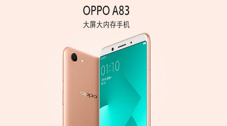 Oppo A83 with 5 7-inch 18:9 display, Face Unlock feature