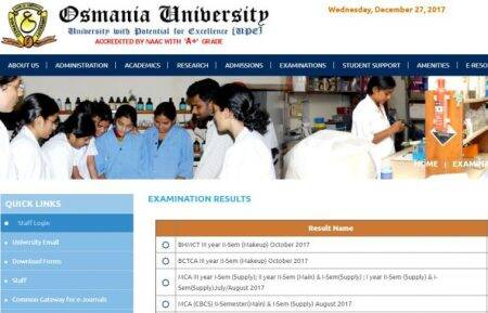 Osmania University exams 2017: Results released for MCA, BCTCA, BHMCT, steps to check your scores