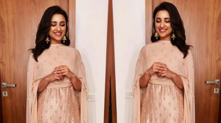 Parineeti Chopra's ethnic outfit is the perfect choice when you don't want to dress up at a wedding