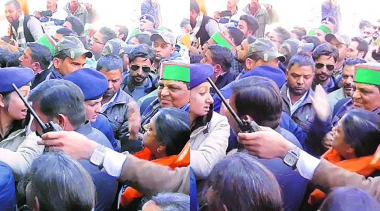 Punjab Police Constable Slapped, Punjab Constable Woman Slapped, Punjab Constable Police Woman Slapped, Punjab AICC in-charge Asha Kumari, Congress MLA Asha Kumari, Punjab News, Indian Express, Indian Express News