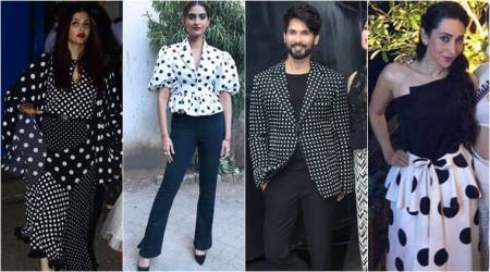 Is this the polka dots month? Aishwarya, Sonam, Shahid and Karisma certainly think so