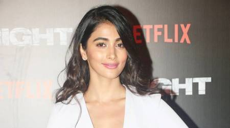 Pooja Hegde's mini jumpsuit is a wonderful mix of risque and power dressing