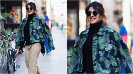Priyanka Chopra effortlessly combines retro with contemporary fashion in one look; see pics