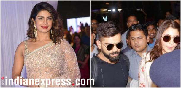priyanka chopra, anushka sharma and virat kohli in Mumbai