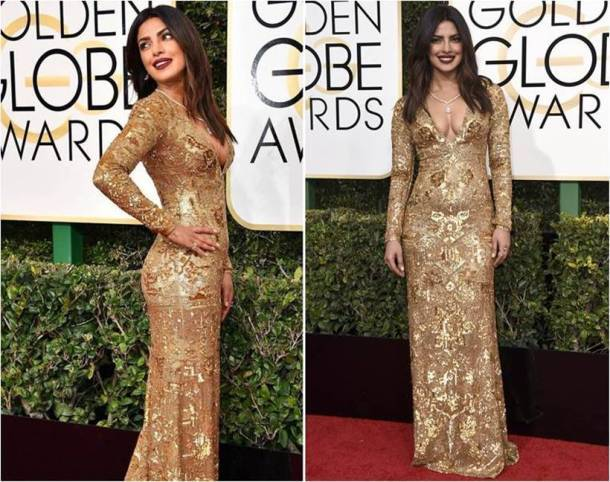 Golden gowns, Deepika Padukone, Priyanka Chopra, Sonam Kapoor, Kareena Kapoor Khan, Vidya Balan, Malaika Arora, Suhana Khan, Sridevi, Karisma Kapoor, kareena kapoor, sridevi, colours that made a splash this year, cannes, ashwariya rai, indian express, indian express news