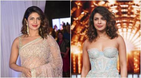 Priyanka Chopra in a Sabyasachi sari or off-shoulder dress: Which sheer outfit is your favourite?
