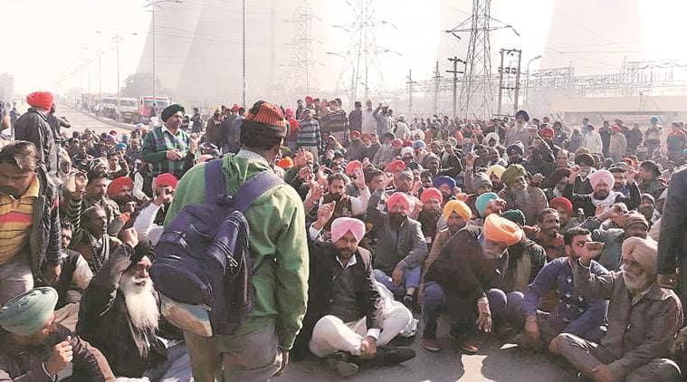 punjab thermal plant closure protest