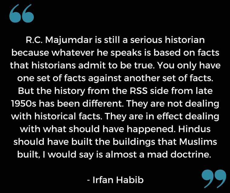 Irfan Habib on history by RSS