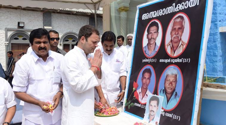 Rahul Gandhi Meets Cyclone Okhi Affected Families In Tamil Nadu And Kerala