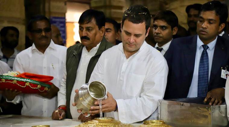 Rahul gandhi, Congress, Gujarat election results, gujarat Congress, BJP, Narendra Modi, Congress, Congress President, Rahul in temples, India News, Indian Express