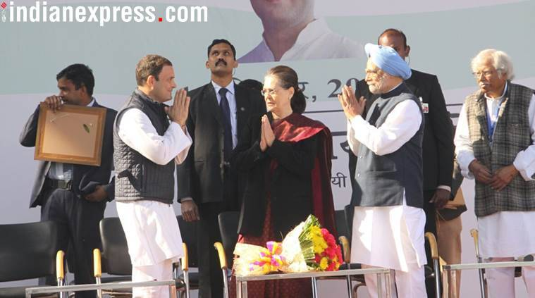At son Rahul's elevation ceremony, Sonia Gandhi's last speech as Congress President