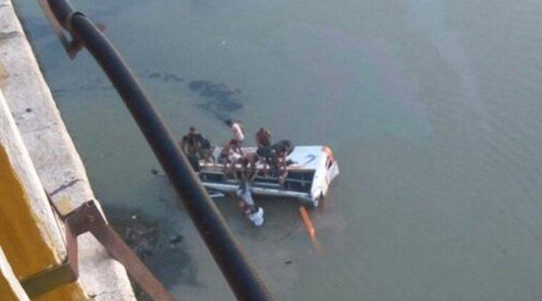 Rajasthan: 26 dead after bus falls off bridge into river