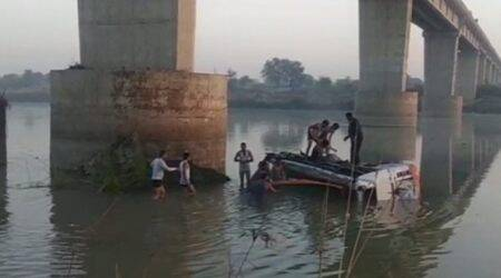Pune: Two of family die as car falls off bridge