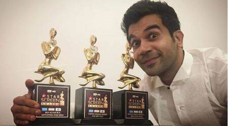 Rajkummar Rao won 3 bigs at Star Screen Awards 2017