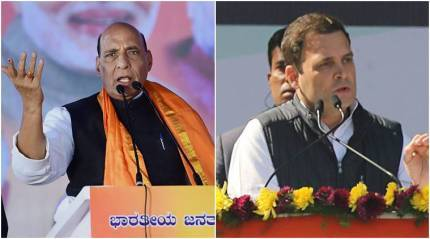 If someone formed govts by setting fire, it is Congress: Rajnath Singh hits back at RahulGandhi