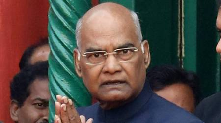 President Ram Nath Kovind. (Express photo by Partha Paul)