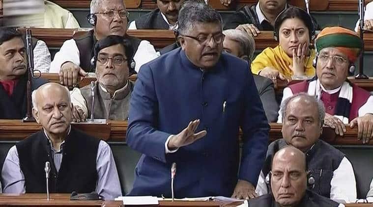 Triple Talaq Bill, Instant Triple Talaq, Lok Sabha, Triple Talaq Bill passed, Muslim Divorce Law, Muslim Women Rights, Ravi Shankar Prasad, Congress, Indian Express