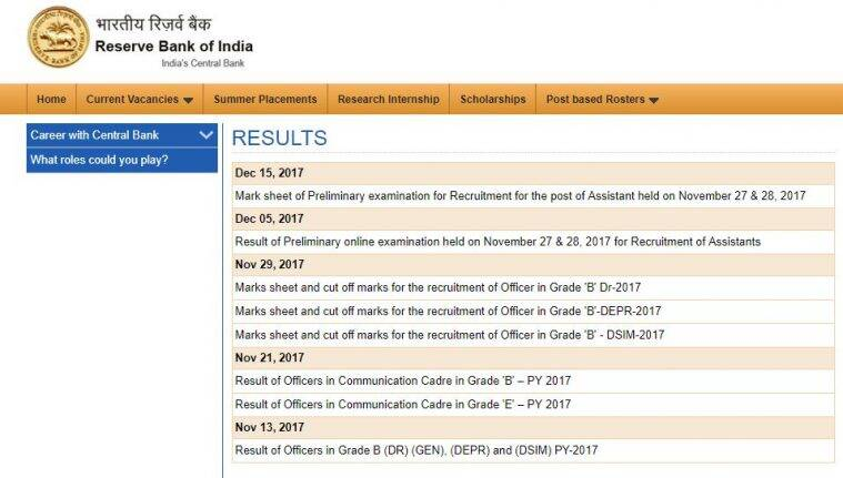 rbi,rbi.org.in, rbi assistant prelims 2017, rbi assistant prelims score card