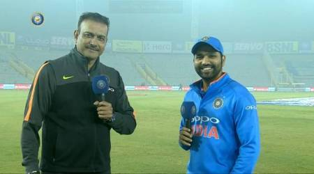 Rohit Sharma reveals the secret behind his 3rd ODI double century to Ravi Shastri, watch video