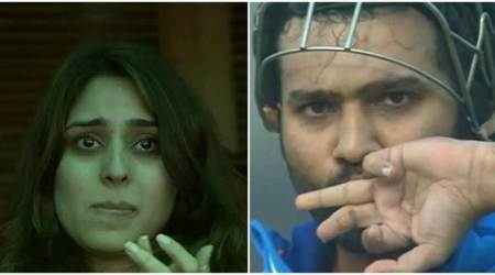 Rohit Sharma's wife Ritika Sajdeh in tears after he hits 3rd double hundred, watch video