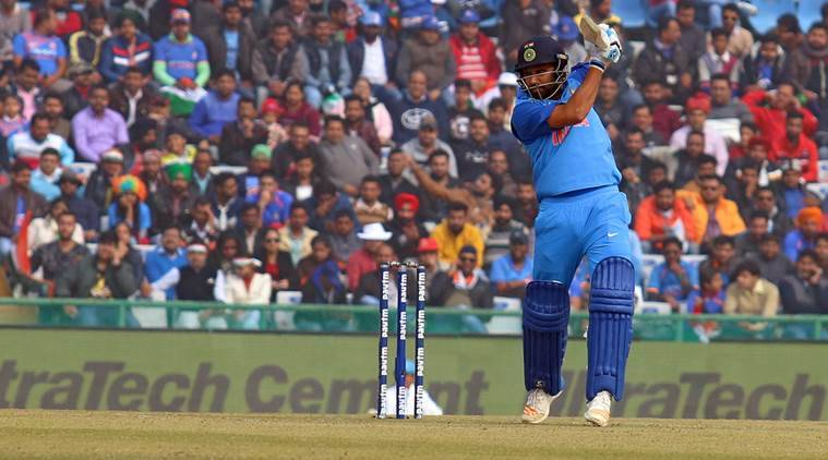 Rohit Sharma hits century against Sri Lanka