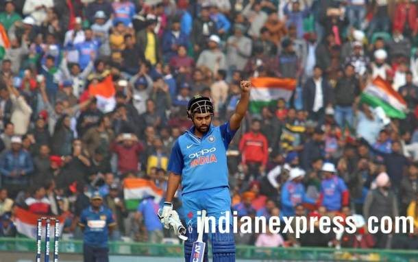 Rohit Sharma 208* -- 3rd double century in ODIs