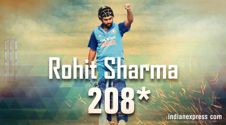 Photos Rohit Sharma 208 3rd Double Century In Odis Sports