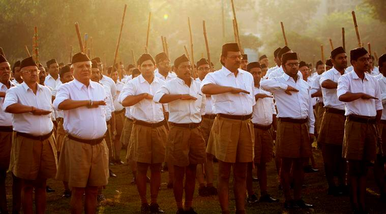 RSS, RSS members, Hindus, Muslims, Hinduism, Hindutva, BJP, Indian express