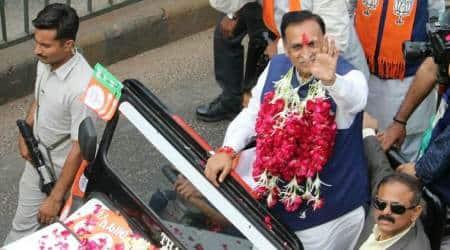 Vijay Rupani campaigning for the upcoming Gujarat assembly elections