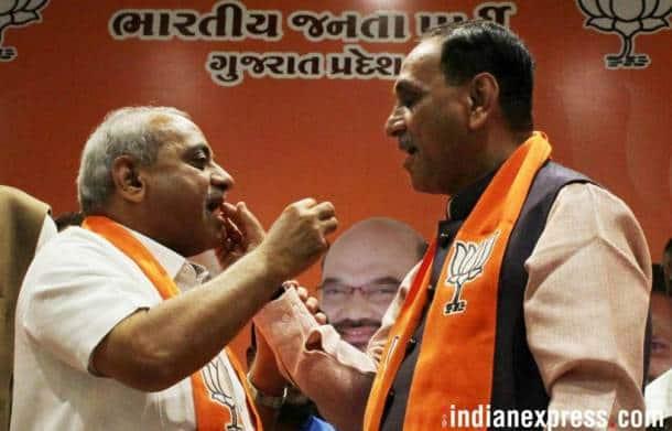 Vijay Rupani, Gujarat Chief Minister, Gujarat CM Rupani, Gujarat Assembly election, BJP Gujarat win, Gujarat BJP, Gujarat BJP celebration, India news, Indian Express news