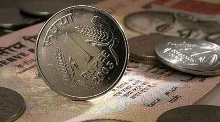 Rupee slumps 23 paise to 64.30 in late morning deals
